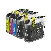 LC111-4PK+LC111BK ブラザー互換インクカートリッジ brother LC111シリーズ 4色セット+ブラック ベンチャートナー