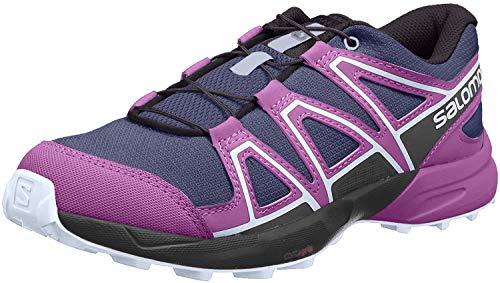 Salomon Kids' Speedcross J Trail Running Shoes, Crown Blue/Sparkling Grape/Phantom, 6 Big Kid US