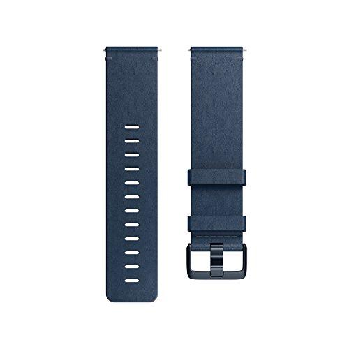Fitbit Versa Correas de cuero horween premium, tamaño S, azul medianoche