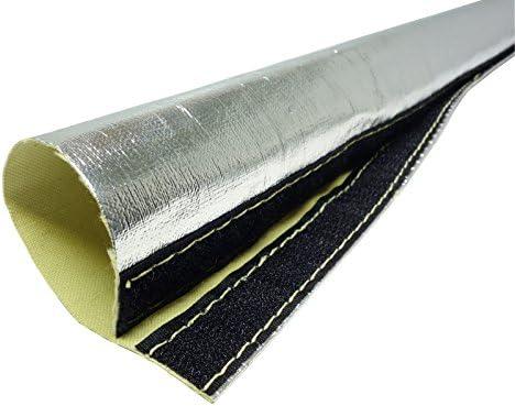 1m Alu Kevlar Hitzeschutzschlauch Id 50mm Klettverschluss Heat Sleeve Kälteschutzschlauch Auto