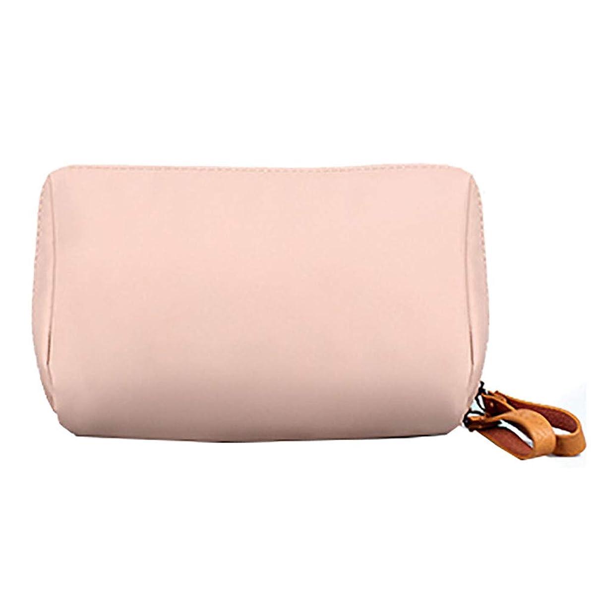 子孫硫黄姓化粧品のバッグのポータブルシンプルな多機能の学生の化粧品のバッグの女性の旅行防水かわいい口紅のストレージ小さな四角い袋のピンク26 * 6 * 10CM