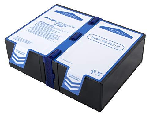 Avacom Ava-RBC123 Ersatzbatterie für APC: RBC123. Akku für USV - Besteht aus dem Long Brand Premium-Akkus. passend für Modelle BR900GI/ SMT750RMI2U & andere