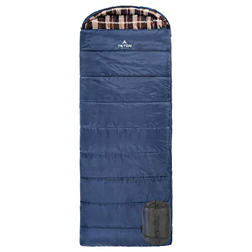 TETON Sports Celsius XL 0F Sleeping Bag; Great for Family Camping; Free Compression Sack