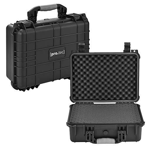 [pro.tec] Schutzkoffer 40,6 x 33 x 17,4 cm Waffenkoffer Universalkoffer Transportkoffer Fotokoffer Kamerakoffer IP55