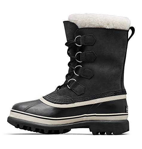Sorel Women's Caribou NL1005 Boot,Black/Stone,9 M