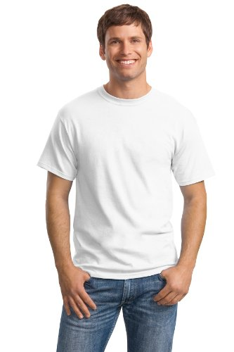 Hanes Mens TAGLESS ComfortSoftCrewneck T-Shirt,White,Small