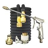 WSKL Kit de Pistola de Agua de Manguera de jardín Ajustable Manguera de riego mágica con Pistola de Lavado de Coches de Alta presión Herramienta de Limpieza de Agua en Aerosol