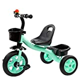 Children's Bicycle Pedal Tricycle Tires with Classic Bicycle Bell and Adjustable Seat