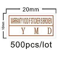 ラベル用紙 500個/ロット保証ステッカーが無効にステッカーを引き裂きます 耐久性