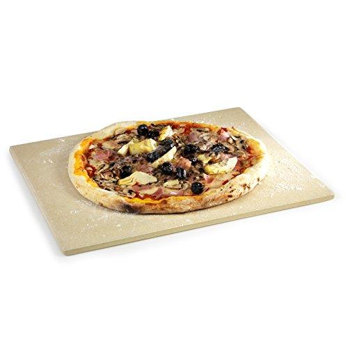 Barbecook Plaque Pizza rectangulaire pour Barbecue Gaz, pour Siesta, argile réfractaire, 43 x 35 cm