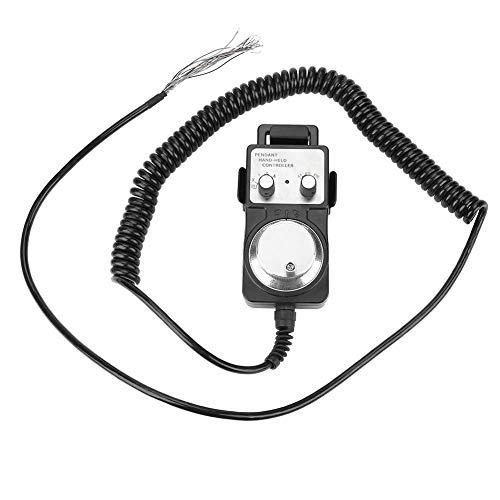 Odoukey Generador Manual de operación Simple con Volante electrónico con generador Manual Base Negro