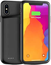 Lonlif Battery Case for iPhone X/XS/10, 4000mAh Ultra Slim Rechargeable Protective Charging Case, Extended Portable Battery Pack Charger Case Compatible with iPhone X/XS/10 (Black)