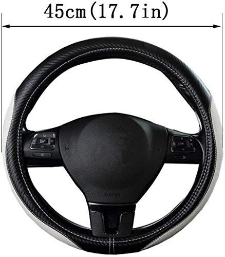 JXXDDQ Funda de cuero trenzado para volante de coche, transpirable, antideslizante, para Scania R, P y S, SUV, autobús, caravana, camión, excavadora, grúa