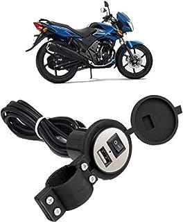 AccMart Bike Round USB Waterproof Mobile Holder/Charger - Assorted (Black)