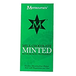 A delicious milk chocolate bar with peppermint Creative chocolate with crunchy peppermint flavour Perfect for a whole host of different diets and food intolerances A full and balanced flavour with some different taste Used only selected the finest qu...