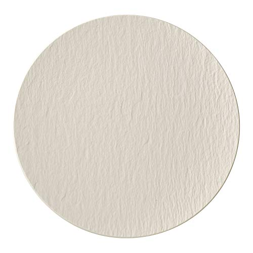 Villeroy & Boch Manufacture Rock Piatto gourmet, Porcellana Premium, 32 cm, Bianco