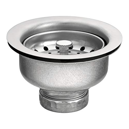 Moen 22037 3-1/2 Inch Drop-In Basket Strainer with Drain Assembly, Satin