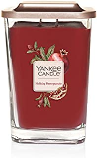 Yankee Candle Company Elevation Collection with Platform Lid, Large | 2-Wick, Holiday Pomegra