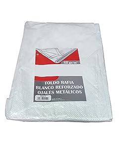 Bcalpe 661550 Toldo rafia plastificado, Blanco, 5 x 8 m