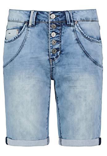 Eight2Nine Damen Short Jeansshort Sweat Jeans Bermuda 5 Pocket by URS (L, Swashed)