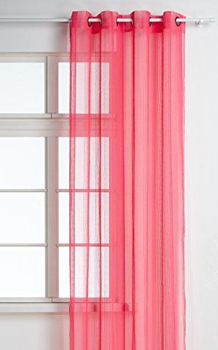 HomeMaison.com HM69806946Vorhang, gewebt mit Fantasiemuster, Polyester, Maße: 140x 260cm, Farbe: Pink