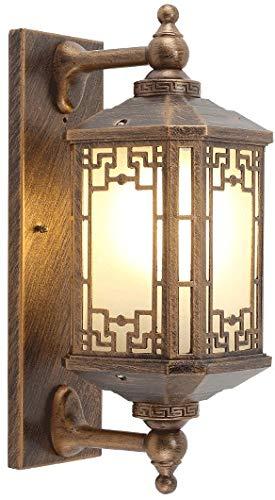 Zenghh Pared Características del mamparo Luces al aire libre lámpara de pared de agua de Seguridad Industrial de la cerca de 4 lados del panel Patio Solario luces del paisaje restaurante de alta cocin