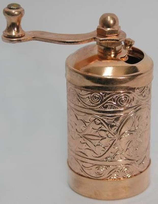 Turkish Brass Salt Pepper Spice Grinder Mill Shiny Copper