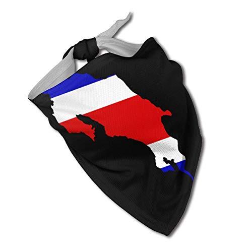 leyhjai Mapa de la Bandera de Costa Rica Collares de pañuelo para Perros Triángulo Pañuelo para el Cuello Baberos Bufandas Accesorios Gatos para Mascotas y Cachorros de bebé Toalla de Saliva