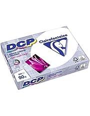 Clairefontaine 1833 Papier d'impression DCP (500 feuilles au format DIN A4 avec 90 grammes / Papier de qualité supérieure pour l'impression intensif en couleurs) Blanc