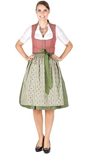 15848 Wenger Dirndl Rita 65er Altrosa grün Size 46