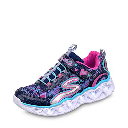 Skechers Heart Lights Girls Sports Trainers 30 EU Marineblau Multi