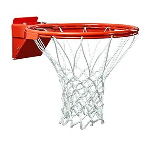 PROGOAL Breakaway Double Spring Basketball Rim, Heavy Duty Pro Slam Flex Rim Replacement 5/8-In, Standard Goal Reinforced Mounting Bracket Fit Most Size Backboards Indoor and Outdoor