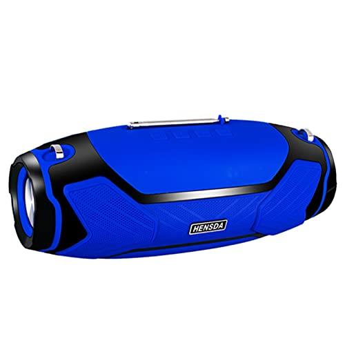HSD-202 40W altavoces inalámbricos Bluetooth/radio FM, subwoofer estéreo portátil de columna al aire libre de alta potencia, para PC/ordenador portátil/caja de auge/centro de música/radio