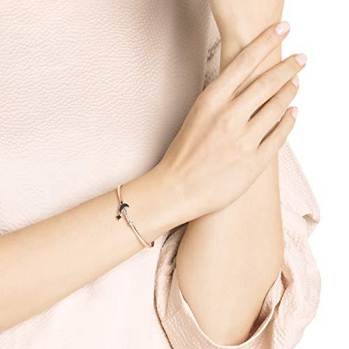 Swarovski Bracciale Rigido Symbolic Moon, Nero, Placcato Oro Rosa