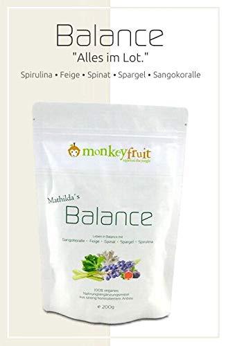 Mathilda´s Balance Tabs mit Spirulina, Feige, Spinat, Spargel & Sango Korallenpulver von MonkeyFruit, 800 Tabletten, Smoothie in a tablet (by VivaNutria)