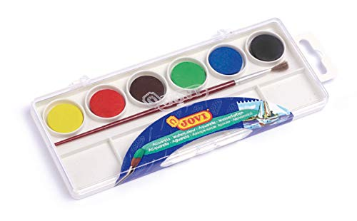 Jovi – Watercolours, Box with 6 Pills of 22 mm, Assorted Colours (800/6)