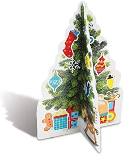Diecut 3D Christmas Trees & Stickers - 12 Sheets, 456 Stickers Total, Envelope Seals, Kids Parties, Roadtrips, Classrooms