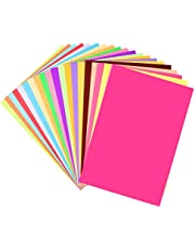 SUPVOX 100PCS A4 Size Origami Craft Paper Colored Art Paper DIY Sheet Decals for Kids Children Kindergarten