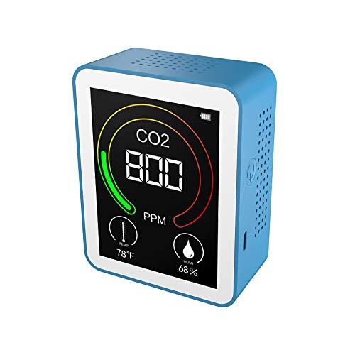 CO2 Messgerät KKmoon CO2-Detektor 400-5000ppm Temperatur- und Feuchtigkeitsmesser Luftqualitätsprüfer Luftqualitätsdetektor Intelligenter Kohlendioxid Detektor mit Batterie