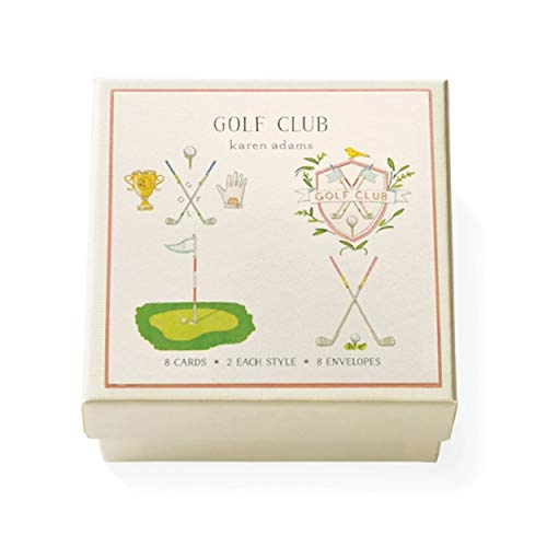 Karen Adams Golf Club Gift Card Enclosure Box of 8 Assorted Cards with Envelopes -  GBGEGOLF