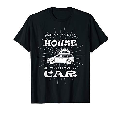 Camping Auto Tshirt - Dachzelt Mini Camper T Shirt Geschenk T-Shirt