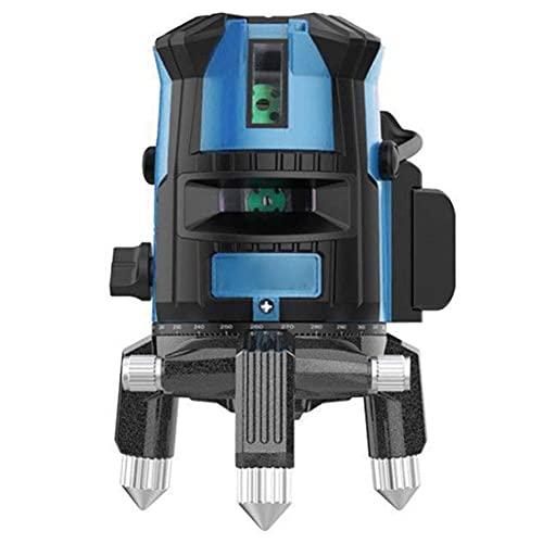 Láser autonivelante automático 2/3/5 líneas Nivel láser línea transversal láser horizontal y vertical teclado táctil a prueba de polvo y estuche de transporte (alta precisión) F
