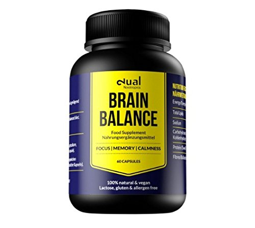 Dual Brain Balance - Suplemento Nootrópico Vegano/Para Deporte, Fitness, Entrenamiento/Ashwagandha Orgánica/Estimulador de Memoria/Potencia Actividad Cerebral y Rendimiento Físico (Paquete de Prueba)
