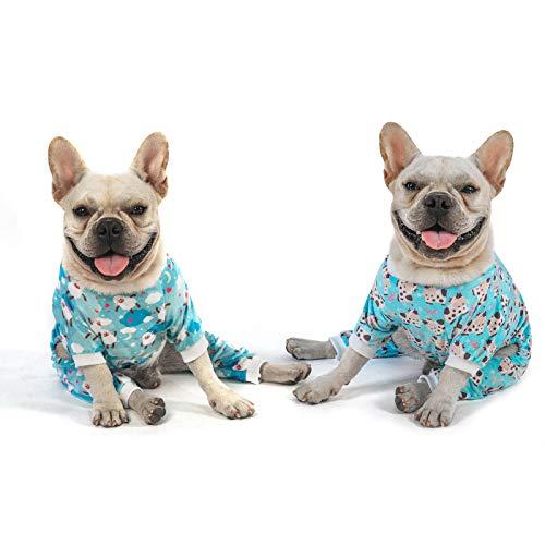 CuteBone Niedlicher Tier-Pyjama für mittelgroße Hunde, Mädchen und Jungen, Kuh und Schaf, 2 Stück, 2SY05M