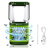 YUNLIGHTS Solar Bug Zapper Lantern 2-in-1 LED Portable Waterproof Mosquito Killer Lamp with 3 Lighting Modes and USB Charging for Indoor, Outdoor, Home, Camping, Hiking, Fishing, Emergency