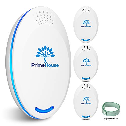 Ultrasonic Pest Repeller Plug in | Spider Repellent | Pest Reject | Pest Control | Indoor Electronic Repellers for Mice, Mouse, Rodent, Squirrel, Roach, Insect, Rat, Bug, cockroach | Pack of 4