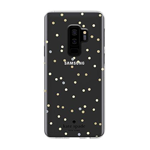 Kate Spade New York Schutzhülle für Samsung Galaxy S9+ - Multi Scatter Dot Gold/Klar mit Steinen