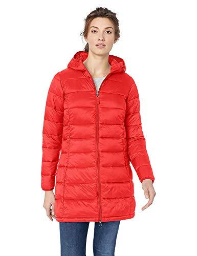Amazon Essentials - Abrigo acolchado para mujer, plegable, ligero y resistente al agua, Rojo (red), US XL (EU 2XL)
