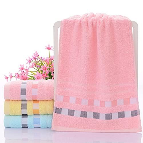 1pcs Cuadrado Color sólido Toalla de Cara Suave algodón Pelo Mano baño Toallas de baño Adultos Hombres Mujeres bebé pañuelo 34x74cm (13.38x29.13 Pulgadas