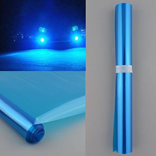 2-er THG Tönungsfolie 30x120cm Sonnenschutzfolie Scheibenfolie Autofolie Fensterfolie blaue Folie